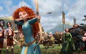 Wallpaper Archer, the movie, the Scots, archer, Princess, arrows, king, bow competition, Brave heart, Brave, Scotland, ...