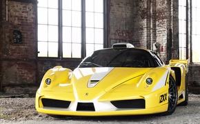 Picture yellow, Windows, Ferrari, Ferrari Enzo, Edo Competition, vizh front
