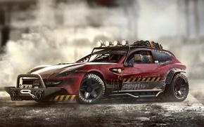 Picture red, rally, amplifier, kit, Ferrari FF, Metal Mash, winch, kenguryatnik, safety frame