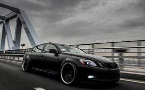 Picture Auto, Lexus, Machine, Tuning, Lexus, Japan, Car, Black, Tuning, Stance, Black color