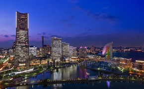 Picture home, Japan, Japan, houses, Yokohama, cities, megapolis, metropolis.