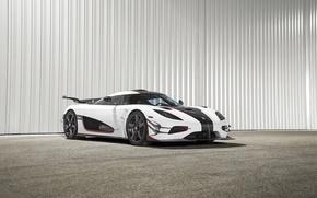 Picture car, Koenigsegg, white, One:1, giper
