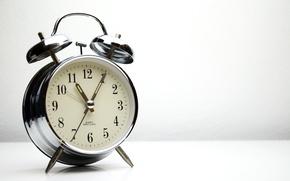 Wallpaper metal, retro, alarm clock