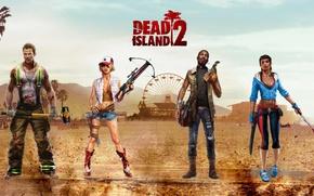 Picture girl, blood, game, man, machete, Dead Island, cast, sledgehammer, Dead Island 2