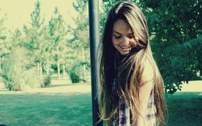 Picture summer, girl, heat, long hair, sunlight