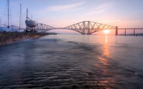 Picture morning, Sunrise, Soft Bridge