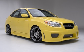 Picture Hyundai, cars, yellow, tuning, Elantra