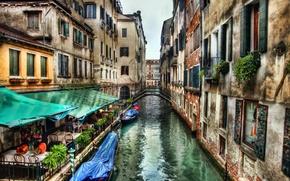 Picture street, building, home, Italy, Venice, channel, cafe, the bridge, Italy, bridge, water, street, Venice, Italia, …