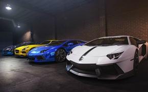 Picture veyron, bugatti, mercedes, lamborghini, sls, aventador