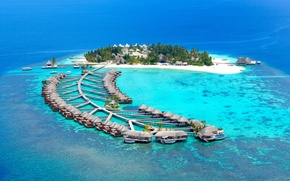 Picture the ocean, stay, houses, Bungalow, Maldives
