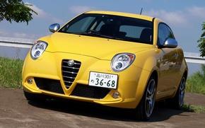 Picture Alfa Romeo, Yellow, Mito, Imola, Alfa Romeo Mito, Alfa Romeo Wallpaper, Mito MultiAir, Alfa Mito …
