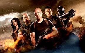 Picture wallpaper, Bruce Willis, Snake, wallpapers, Eyes, Dwayne Johnson, Roadblock, Lady Jaye, G.I. Joe: Retaliation, Adrianne …