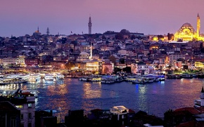 Picture night, mosque, Istanbul, Turkey, night, Istanbul, Mosque, Suleymaniye, Suleymaniye