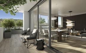 Picture Villa, balcony, living space
