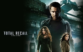 Wallpaper Jessica Biel, Remember all, Kate Beckinsale, Colin Farrell, Total Recall
