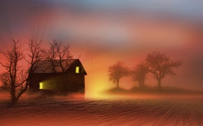 Picture nature, house, background