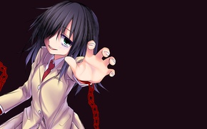 Picture girl, background, chain, school uniform, WataMote, They will meet the ga mote kris no of …