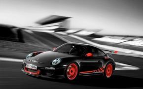 Picture machine, Auto, blur, Porsche