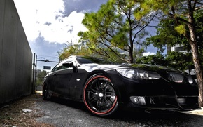 Picture BMW, black, tuning