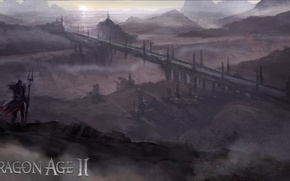 Picture bridge, Conceptart, Dragon Age 2, land