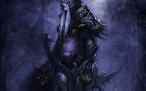 Picture animal, armor, bow, hood, WoW, World of Warcraft, elf