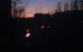 Picture city, lights, sky, night, window