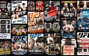 Picture collage, fighters, mma, ufc, fighters, mixed martial arts, posters