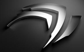 Picture metal, logo, nvidia