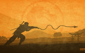 Picture fighter, ninja, Scorpion, Mortal Kombat X