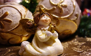 Picture balls, angel, figurine, holidays, figure, Christmas