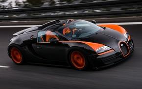Picture Roadster, speed, track, Bugatti, Veyron, supercar, Bugatti, Grand Sport, Vitesse, WRC Edition