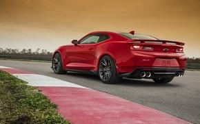 Picture red, Chevrolet, Camaro, Chevrolet, Camaro, ZL1