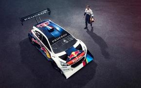 Picture helmet, athlete, Top Gear, Peugeot, Red Bull, racer, Total, Sport 208 T16 Pikes Peak