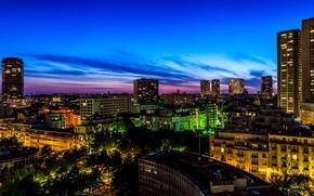 Picture night, lights, France, Paris, building