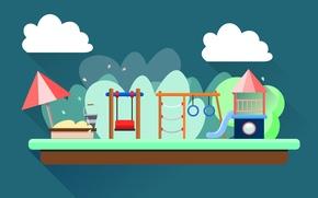 Picture clouds, vector, shelf, children's Playground