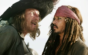 Picture pirates of the Caribbean, Jack Sparrow, Hector Barbossa