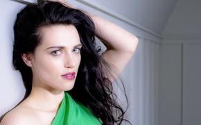 Picture look, girl, pose, smile, makeup, actress, hair, Katie McGrath, Katie McGrath
