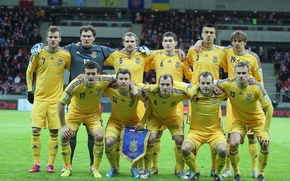 Picture football, football, the national team of Ukraine