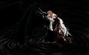 Picture darkness, blood, wings, art, dark, blood, bleach, art, bleach, ulquiorra, wound, ulquiorra, gestures, Espada, inoue …