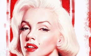 Picture look, face, woman, star, actress, beauty, art, marilyn monroe