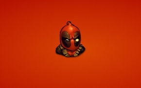 Picture red, marvel, Deadpool, Deadpool, comic, Wade Wilson