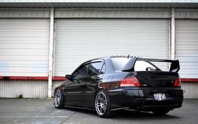 Picture Mitsubishi, Lancer, Evolution, Beautiful, Style, Lancer, JDM, Evolution, Mitsubishi, black. rearside