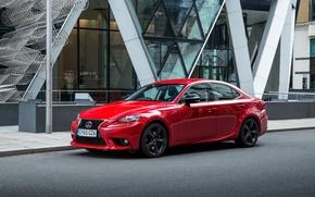 Picture red, Lexus, sedan, Lexus