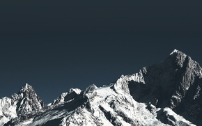 Picture mountains, minimalism, material