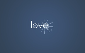 Wallpaper Love, Background, The word, The inscription, Love, Paint, Blot, Minimalism, Heart