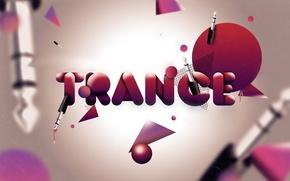 Wallpaper trance, mugs, red