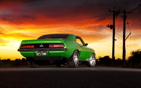Picture the evening, muscle car, Chevrolet Camaro, chevrolet camaro