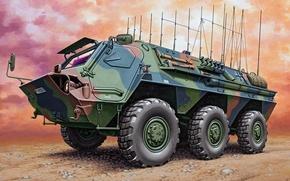Picture figure, art, APC, Transport tanks, Fox, German armored personnel carrier, TPz 1, wheel floating combat …