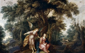 Picture picture, religion, mythology, Frans Franken The Younger, Hagar and the angel