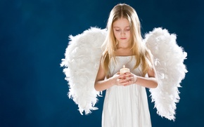 Picture sadness, girl, children, childhood, child, wings, angel, candles, cute, girl, wings, sadness, angel, child, cute, ...
